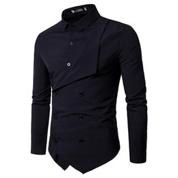 $enCountryForm.capitalKeyWord Australia - Men Shirt 2018 Spring New Brand Men's Slim Fit Dress Shirt Male Long Sleeves Fake two Casual Shirt Camisa Masculina