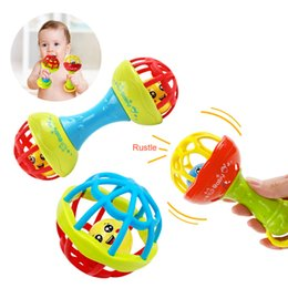 baby grasping rattles Australia - Toddler Toys Baby Rattles Mobiles 2018 Baby rattle newborn toy for stroller grasp Jingle ring rolling ball toy Plastic handbell