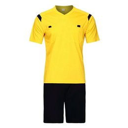 $enCountryForm.capitalKeyWord UK - Adult Football Professional Sets Mens Soccer Referee Uniform Thai Referee New Designs Jersey Shorts Judge Soccer Kits Sportswear