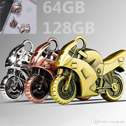 $enCountryForm.capitalKeyWord Australia - Extreme speed Metal Motorcycle model Usb Flash Drive Plate Usb Flash Pen Drive Stick USB U Disk (Color: Silver gold bronze) (Size: 64gb,32g
