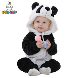 $enCountryForm.capitalKeyWord NZ - Michley Spring Autumn Flannel Boys Clothes Cartoon Animal Jumpsuits Infant Girl Rompers Baby Clothing Xyz15088 Q190520