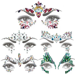 gems stickers Australia - Glitter Face Jewels Temporary Tattoo Sticker Body Gems Gypsy Festival Adornment Party Face Decoration Tattoo Beauty Makeup Tools