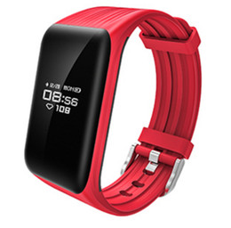 real phones for kids 2019 - K1 Smart Wristband Real-time Heart Rate Monitor Fitness Tracker IP68 Waterproof Bluetooth Bracelet Passometer fit bit fo