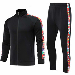 men jogging suits Australia - Autumn Winter Running Training Suit Men Women Jackets + Pants Sports Basketball Soccer Sets Fitness Gym Jogging Sportswear SH190930