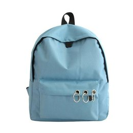 0223418b3b10 Canvas Pure Color Backpack Fashion Adolescent Girls Knapsack Female Best  Women Rucksack Student School Bag Large Travel Bag