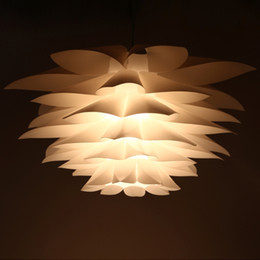 plastic pendant lamp diy Australia - Lotus puzzle Pendant Lamp DIY Paper Lampshade Plastic Chandelier Indoor home Staircase Kitchen Dining room Stairwell Chandelier