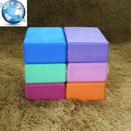 foaming products 2019 - Blue Song brand Yoga novice Eco Products EVA Yoga Blocks Bricks Foaming Foam Home Exercise Fitness Health Gym Practice T