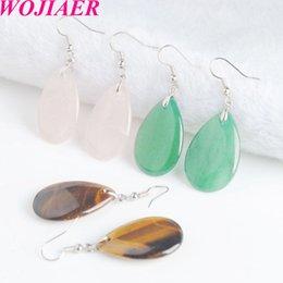Wholesale tribal indian resale online - WOJIAER Indian Tribal Natural Stone Earring Dangle Drop Earrings Water Drop Earring For Women Crystal Quartz Earring DBV911