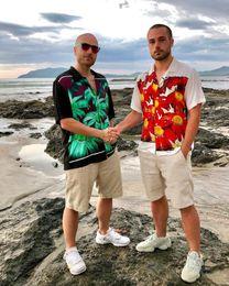 $enCountryForm.capitalKeyWord Australia - 19SS Box Logo X Jean Tee Flower Power Rayon Shirt Vacation Tee Short Sleeve Tops Street T-shirt Casual Tooling Work Summer Holiday shirt