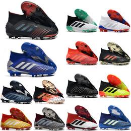 Hot work safety online shopping - 2019 top quality hot sale soccer shoes Predator FG soccer cleats mens football boots Predator tango botas de futbol tic
