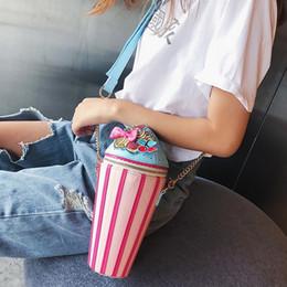 Discount single cupcake bags - 1Women Cupcake Ice Cream Shape Shoulder Bags Creative Travel Crossbody Bag Messenger Handbag Girls Single Shoulder Bag