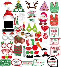 $enCountryForm.capitalKeyWord Australia - Christmas Party Photo Props Masks 5 Style White Mustache Santa Claus Hats Candy Rabbit Antlers Glasses Tie Slogan Photo Booth Props 50 wn601