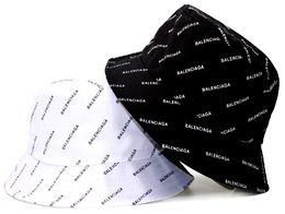 $enCountryForm.capitalKeyWord NZ - Brand Designer Leather Letter Bucket Hat For Mens Womens Foldable Caps Black Fisherman Beach Sun Visor Sale Folding Man casquette Bowler Cap