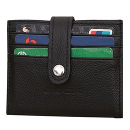 Id Coins Australia - High quality Leather Hasp Wallet ID Blocking Mini Wallet Automatic Pop Up bus card Coin Purse #new