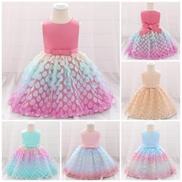 bridesmaid tutus UK - Little Baby Princess Tutu Dress Sequin Baby Girls Princess Bridesmaid Pageant Gown Birthday Party Wedding Dress