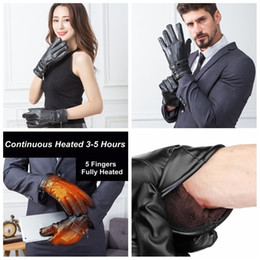 Motorcycle Leather Cycle Gloves Australia - Winter Electric Heated Gloves warm sport outdoor Skiing Gloves Bicycle Motorcycle Hands Warmer Black cycling men women gloves FFA1409