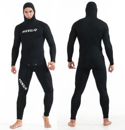 Xl Full Body Suits Australia - New Hot Sale 5mm Neoprene Wetsuit Full Body Diving Wetsuit Coldproof Surfing Suit 2 Piece Spearfishing Wetsuit
