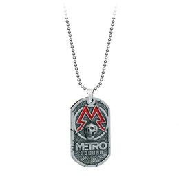 $enCountryForm.capitalKeyWord NZ - PC Game Metro Exodus 2033 Necklace Dog Tag Pendant Leather Metal Chain Men Necklaces Charm Gifts for Kids Games Jewelry