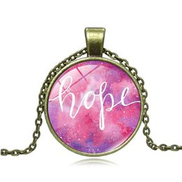 $enCountryForm.capitalKeyWord Australia - Foreign trade hot sale Nebula Hope time gemstone necklace Glass alloy pendant accessories Men and women clothing accessories wholesale