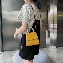 $enCountryForm.capitalKeyWord Australia - 2019 Top Selling Summer New Arrival Fashion Pearl Chains Decoration Handbags Luxury Women Girl lady Crossbody Shoulder Bags PU Leather