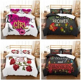 $enCountryForm.capitalKeyWord Australia - Rose Beautiful Girl Design Bedding Set 2PC 3PC Duvet Cover Set Of Quilt Cover & Pillowcase Twin Full Queen King Size