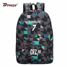 3e721db29a Discount teen backpacks - Teen Men Backpack Boys School Bags for Teenagers  Back Pack Cristiano Ronaldo