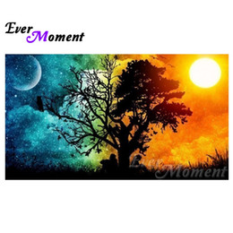 $enCountryForm.capitalKeyWord NZ - wholesale Diamond Embroidery Sun Moon Tree Diamond Mosaic Full Square Drills Artwork Home Decoration Diamond Painting ASF1188
