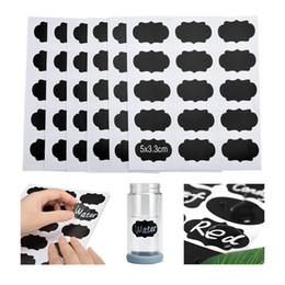 $enCountryForm.capitalKeyWord Australia - 90 pcs set Blackboard Sticker Craft Kitchen Jars Organizer Reusable Labels Stickers Chalkboard Sticker Black Board Wall Stickers