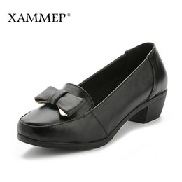 women office clothing Australia - Genuine Leather Shoes Bomb For Women Of Women With Platform Size Big Shoes High Quality Brand Women Clothes From Office Spring Fall Shammep