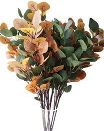 $enCountryForm.capitalKeyWord Australia - one Fake Eucalyptus Tree Branches Artificial Eucalyptus Stems green & Autumn Red Colors for Wedding Centerpieces Greenery Wall Decoration