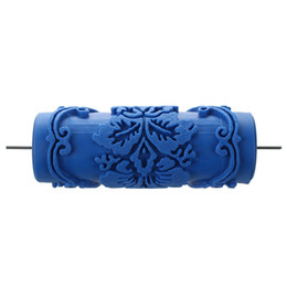 $enCountryForm.capitalKeyWord UK - Paint Roller with decorative motifs for Machine Designs flowers   blue 15 cm