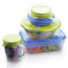 american shoe wholesalers UK - Silicone Food Lid, 12 Pcs Stretch Reusable Lids Expandable Silicone Storage Lid Kitchen Storage Organization