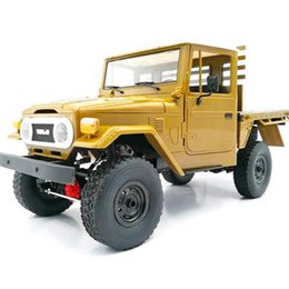 model trucks kits Canada - WPL C44KM 1 16 Metal Edition Kit 4Wd Climbing Off-Road Truck Diy Accessories Upgrade Without ESC Battery Transmitter Receiver MX200414