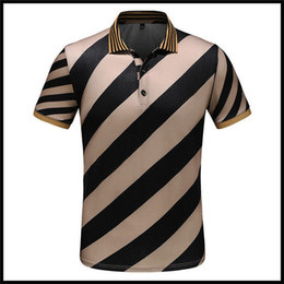 Wholesale 2018 Luxury Italy Designer Polo Shirts High Street Embroidery Garter Snakes Little Bee Printing Clothing Mens Brand Polo Shirt