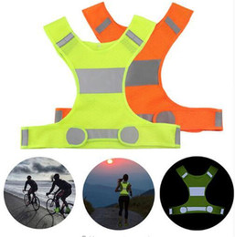 Bicycle Accessories Dhl 100pcs Unisex Outdoor Cycling Safety Vest Bike Ribbon Bicycle Light Reflecing Elastic Harness For Night Riding Running