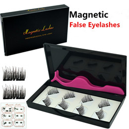 making false eyelashes Australia - Magnetic Eyelashes 3D False Eyelashes 8 pcs set Invisible Magnet 3D Mink Lashes with Tweezers Thick Full Strip Fake Eyelash Eye Lashes