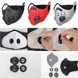 Vente en gros Nouveaux Masques ajustables Cyclisme visage Sport Formation Masque PM2,5 Anti-pollution Masque Courir activé Filtre lavable Masque carbone moto