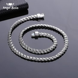 chains mm Canada - High Quality Punk Chians popular Fashion Ancient silver necklaces Men Jewelry Wholesale New Trendy 6.5 MM 50 CM Snake Chain Necklace Factory
