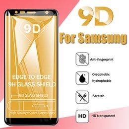 Iphone Glass Screen Guard Australia - 9D Full Cover Tempered Glass Curved Edge Guard Film Screen Protector For iPhone XS Max XR X 8 7 Plus Samsung Galaxy A6 A7 A8 A9 A20E J2 J4