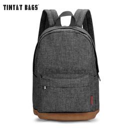 Lace Backpacks Australia - Tinyat Men Male Canvas Backpack Gray Casual Rucksacks 15inch Laptop Backpacks College Student School Bag Backpack Women Mochila Y19061004