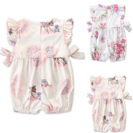 Cute Tutus For Infants Australia - Fashion 2019 Baby Girl summer clothing cute Deer Flower cotton soft Romper Jumpsuit for newborn infant clothes children kid C13