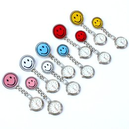 Nurses Fob Watches Clip Australia - 10pcs Lot, Mixed Bulk Smile Dial Pendant Jewelry Watch Nurses Watches Doctor Brooch Pin Pocket Clip Fob Watch Key Ring