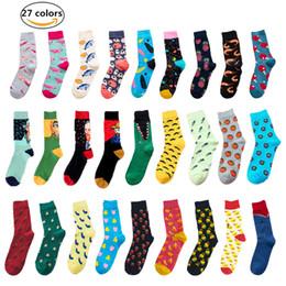 Discount vintage red socks - New Retro Oil Painting Art Socks funny socks men Men Cotton Fashion Happy Vintage Cotton Van Gogh Streetwear