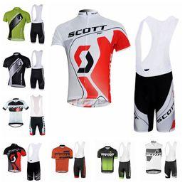 fc2c84153 SCOTT team Cycling Short Sleeves jersey bib shorts sets summer Breathable  racing bike suit Mens Cycling Clothing U30638