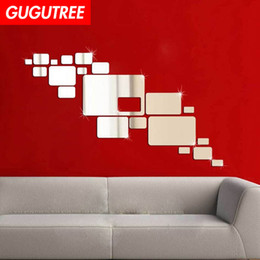 $enCountryForm.capitalKeyWord Australia - Decorate Home geometry 3D mirror art wall sticker decoration Decals mural painting Removable Decor Wallpaper G-2661