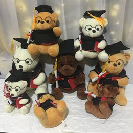 Toy Graduation Bear Australia - 2019 new 18cm plush bear Dr. bear toy cute teddy bear plush animal toy Christmas gift child boy girl graduation gift