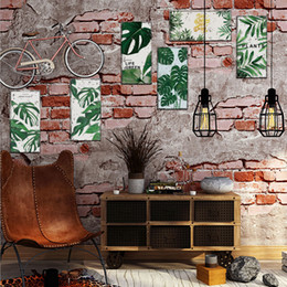 Furniture Wall Stickers Australia - New 29.5*14.5m*1pcs Retro Realistic License Plate Furniture Wall Sticker Home Decor Imitation Iron Painting Poster PVC Wallpaper