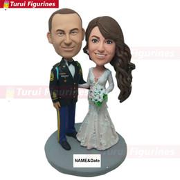 Wedding Figures Australia - Military Personalized Military Wedding Figure Custom Bobble Head Military Wedding Gifts
