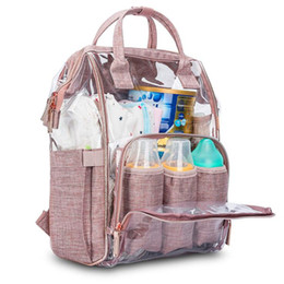 Wholesale Transparent Backpack Baby Diaper Care Bag Pram Stroller Maternity Bag for Mother Female Women Maternal Nappy Nursing Mommy Backpack