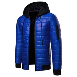 192579510 Cross-Border Men s Winter Coat 2018 New Style Amazon Leisure Youth Mock  Two-Piece Hooded Solid Color Cotton-Padded Jacket Coat